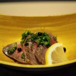 神戸牛割烹 銀座 美作 - 冷皿:宮崎牛のローストビーフ