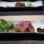 神戸牛割烹 銀座 美作 - 口替わり:仙台牛 内モモ 牛カツ