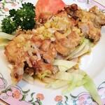 餃子の王将 - 油淋鶏 カリっとした衣×ジューシーな鶏もも肉×香味タレが絶妙!