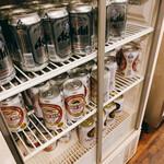 大黒家 - 缶ビールは3種類から選べるのが嬉しい