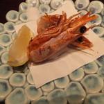海鮮厨房 夢蘭 - 大きなエビの頭は無料で揚げて頂きました。