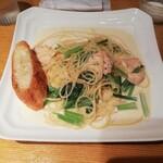 137401473 - かじきまぐろと小松菜のクリームスパゲティ