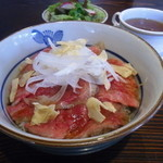 ラグーン - ローストビーフ丼セットです。¥1,580