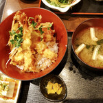 大阪産(もん)料理 空 - 季節野菜と海老天丼