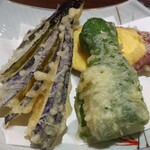 喉越しの蕎麦晴朗 - 野菜天