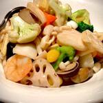 Kantonryouriminsei - 海鮮3種炒め