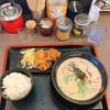 博多豚骨ラーメンまるせん - 料理写真:白とんこつBセット(税込750円)安い!!