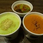 スープストックトーキョー - スープ単品3種(2012/06/30撮影)