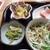 小さな和風レストラン 笑福 - 料理写真:サラダ、ニラもやし卵炒め、アスパラベーコン