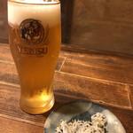 酒房高井 - 生ビール