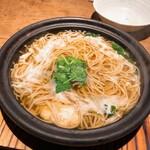 土山人 - 鱧と松茸の小鍋(蕎麦)