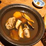 土山人 - 柿と牡蠣のつけ汁