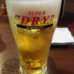 やきとり家すみれ - 半額フェアメニューから生ビールはスーパードライ199円
