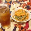 インド料理 スビマハル - 料理写真:セットのサラダ&ウーロン茶