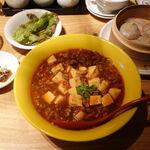 Tenshinyamuchashukanshoumon - 麻婆坦々麺と小龍包セット 1000円