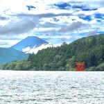 137489487 - 芦ノ湖と富士山