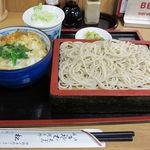 松葉 - ミニ玉子丼+もりそば 750円+100円