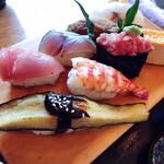 寿司吟 - 旭定食のお寿司