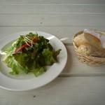 1375430 - サラダとパン