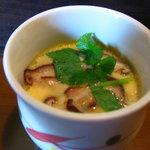 銀釜 - 茶碗蒸も味がしっかりしてました。