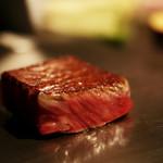麻布十番 鉄板焼 楼漫亭 - 厳選黒毛和牛サーロインステーキを焼き上がりはまさに絶妙のひとことと言っていただける逸品。