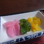 松喜庵 - 玉子丼セットの漬物