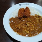 CoCo壱番屋 - 料理写真:豚しゃぶカレー+牡蠣フライ2個(3辛)。