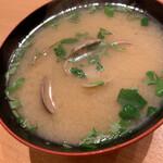 天ぷらめし 金子屋 - あさりの味噌汁