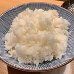 天ぷらめし 金子屋 - 白いご飯