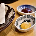 おおさわ - 【豚バラのチャーシュー春巻@520円】ねりからし&味噌ダレ