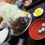 137524001 - 味噌カツライス 1,260円(税込)キャベツ普通盛り。     2020.09.24