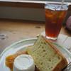 ケ・イキ ビーチハウス&カフェ - 料理写真:ケーキセット シフォンケーキとアイス