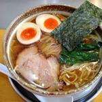 麺屋才蔵 - 鶏味玉正油(大盛)  830円