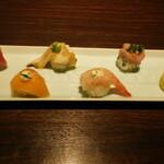 七色てまりうた - 七色てまり寿司 五色盛り合わせ