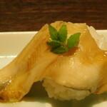 Nanairotemariuta - 穴子クリームチーズ(七色てまり寿司 五色盛り合わせ)