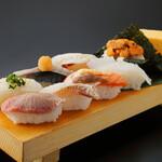 板前寿司 離れ個室 - 板前炙りにぎりセット
