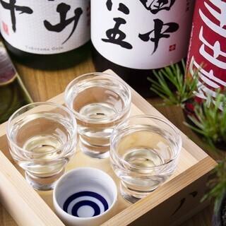 串料理と相性抜群!厳選した日本酒、ワイン、シャンパンも…