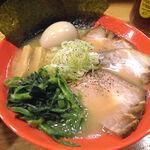 麺屋うしまる - 牛骨らーめん 全部のせ(990円)