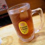 麺屋うしまる - 黒ウーロン茶(100円)