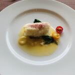 ル・トリアノン - 白身魚のパートフィロ包み焼き