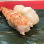 立喰 さくら寿司 - 海老☆ほたて