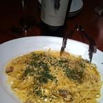 ドラゴンカフェ - カルボナーラ!チーズが濃厚でこれまた美味しい!