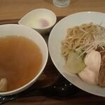 メンヤ コトホギ - 料理写真:塩つけ麺(+100g増量 こだわり玉子トッピ)