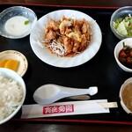 愛園 - 料理写真:から揚げ香味ソース定食