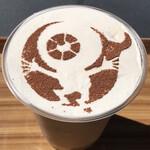 妖怪茶屋 - アイスカフェラテ目玉のおやじバージョン