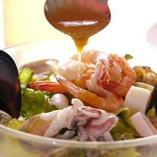 程よいインパクトのあるオリジナルなイタリア料理