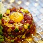 ◆10月限定!超希少!山梨産桜ロースのタルタルステーキ バゲット添え/4人前