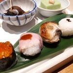神楽坂 SHUN - ⚫手鞠寿司 5種類、しかも美味しいの✨✨