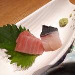 神楽坂 SHUN - ⚫刺身 マグロが脂のりよく美味