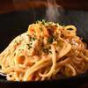 ビストロ ル フルール - 料理写真:濃厚ウニのクリームソーススパゲッティ